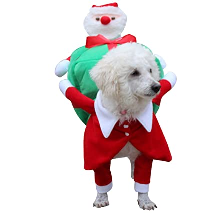 DAMINFE Pet Christmas Clothes Santa Costume for Dogs, Winter Puppy Dog Wear  Christmas Suit Size - Amazon.com : DAMINFE Pet Christmas Clothes Santa Costume For Dogs