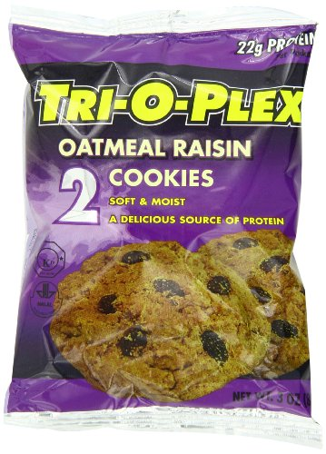 Tri-O-Plex Cookies, Oatmeal Raisin, 3 Ounce Package (Pack of 12) by Tri-O-Plex