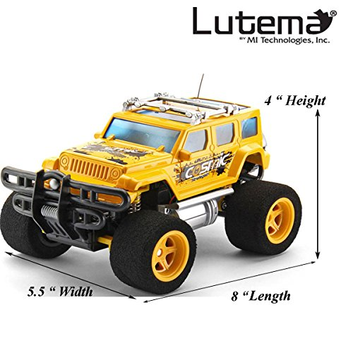 Lutema Cosmic Rocket 4CH Remote Control Truck, Yellow (Remote Control Car Lutema)