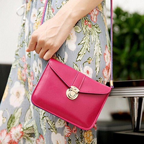 Ba Pink Phone Bag Bag Bag Women Purse Handbag Small Leather Messenger Zero Simple Hot Body Bag Zha Bag Totes Girls Shoulder Fashion Flap Single Ladies Handbag Shoulder FnUd6F