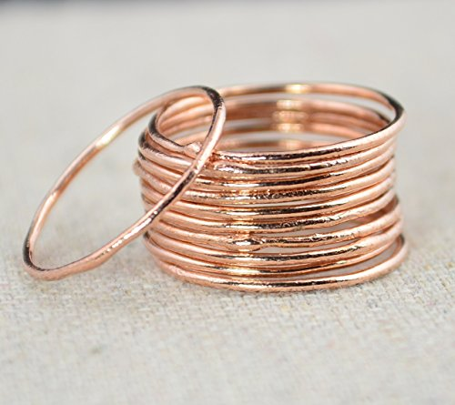 Thin Round Copper Stacking Rings (Sold individually)