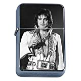 Fat Elvis The King of Burgers Icon Flip Top Oil Cigarette Lighter
