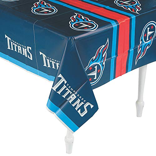 Fun Express - Nfl Tennessee Titans Tablecover for Party - Party Supplies - Licensed Tableware - Misc Licensed Tableware - Party - 1 Piece ()