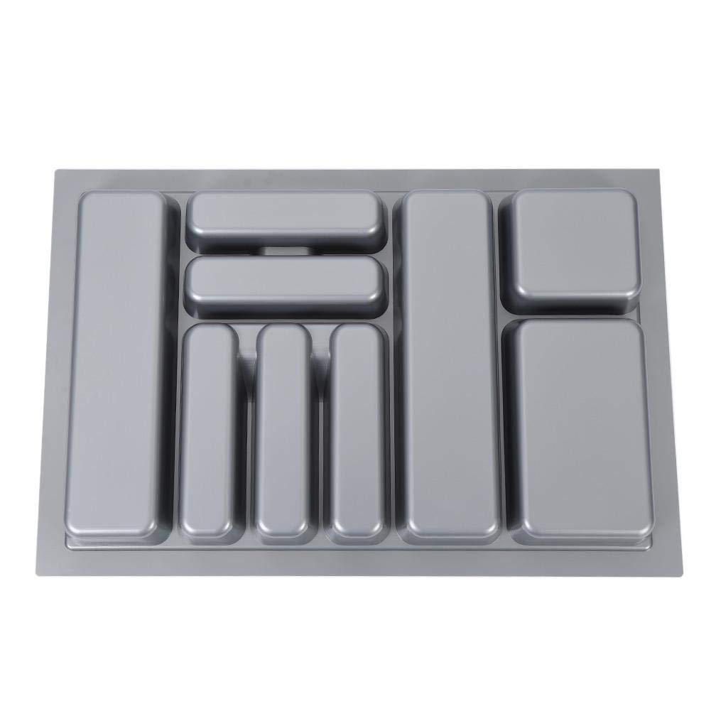 Portaposate per cassetti larghi 800 mm Cassetto per posate Vassoio da Posate Grigio 73x48x6cm Vassoio portaposate in ABS