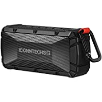 Wireless Bluetooth Speaker by ICONNTECHS IT, Bluetooth 4.0 Portable Waterproof Outdoor Sports Speaker with Micro SD Card Slot Built-in Speakerphone Rechargeable Sport Speakers 12 Hours Playing Time