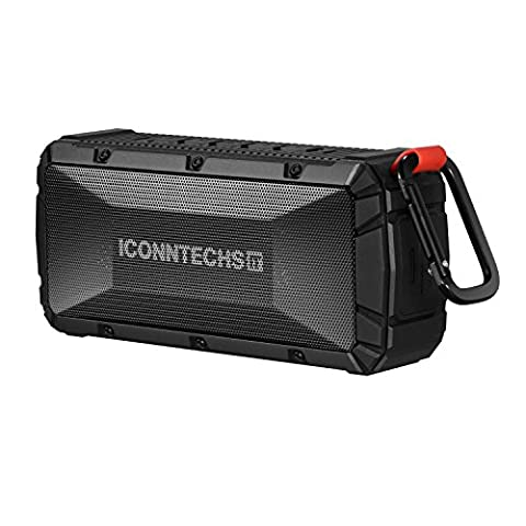 Wireless Bluetooth Speaker by ICONNTECHS IT, Bluetooth 4.0 Portable Waterproof Outdoor Sports Speaker with Micro SD Card Slot Built-in Speakerphone Rechargeable Sport Speakers 12 Hours Playing (V3 Watch Phone)