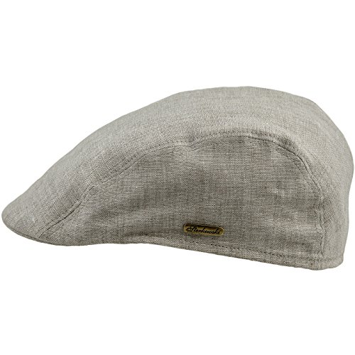 Sterkowski Light Breathable Linen Summer Flat Cap Ivy League US 7 1/4 Beige (Where Would You Measure)