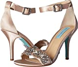 Blue by Betsey Johnson Women's Gina Champagne Sandal