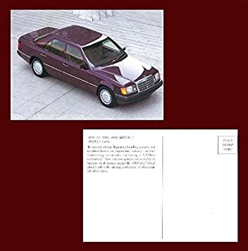 Amazon.com : 1990 MERCEDES-BENZ 300 CLASS SEDANS: 300 E 2.6, 300 E. 300 E 4MATIC & 300 D 2.5 TURBO VINTAGE COLOR POSTCARD - USA - BEAUTIFUL ORIGINAL POST ...