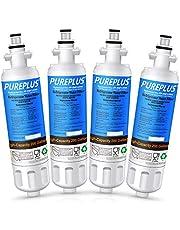 PUREPLUS Refrigerator Water Filter, Compatible with LG LT700P, Kenmore 9690, 46-9690, 469690, ADQ36006101, ADQ36006102, LT700PC, WSL-3, R-9690, LFXS30766S, LFXC24726D, LFXS29766S (Pack of 4)