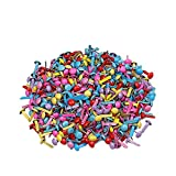 Xeminor 200pcs Mini Brads, Multicolor Mix Metal Round Brads for Paper Craft Stamping Scrapbooking DIY Tool