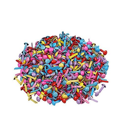 Xeminor 200pcs Mini Brads, Multicolor Mix Metal Round Brads for Paper Craft Stamping Scrapbooking DIY Tool by Xeminor (Image #7)