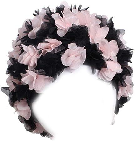 Aawsome Adulte Bonnet De Natation Cr/éatif 3D P/étales De Fleurs /Étanche Prot/éger Oreilles Couverture Doux Respirant L/éger Unisexe Accessoire De Bain