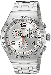 Swatch Men's Quartz Stainless Steel Casual Watch (Model: YOS445G)