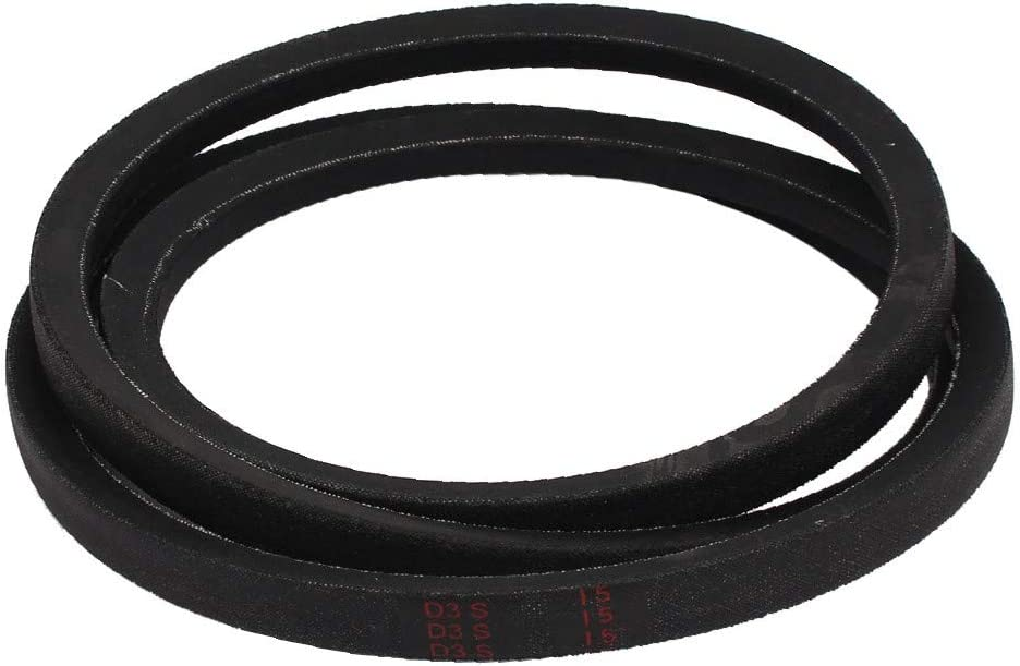 id:e94 f4 3b a83 New Lon0167 B68 Rubber Featured Machine Transmission Band Reliable Efficacy B Type Drive Vee V Belt Black 0.67 x 68