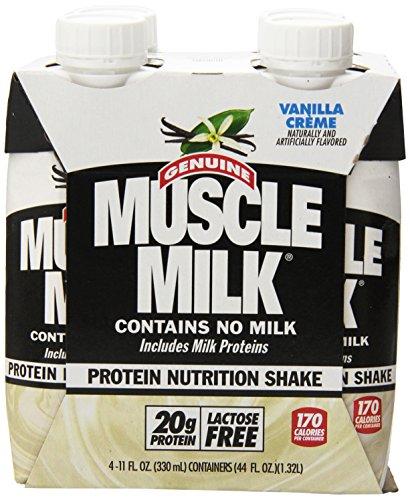 Cytosport Muscle Milk Genuine Ready-To-Drink Supplement, Vanilla, 4 Count
