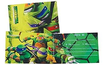 Invitaciones Tortugas Ninja: Amazon.es: Juguetes y juegos
