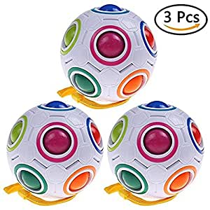 Rainbow Magic Ball Plastic Cube Twist Puzzle Children/'s Educational Toy AL