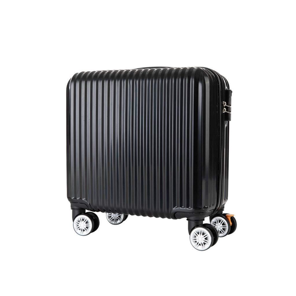 ハードシェルAbs 4輪スピナースーツケーストラベルトロリー荷物軽量(Samll | 39x24x43cm / 25kg)  Black B07MHK3XWV