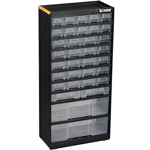 Ironside É tagè re de rangement 34 tiroirs transparents PVC 300 x 135 x 620 mm (Import Allemagne) 191212