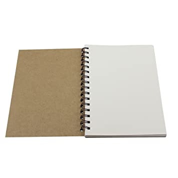 toymy Toy Papel de estraza espiral cuaderno A5 - Archivador para estudiantes oficina escritura dibujo pintura: Amazon.es: Oficina y papelería