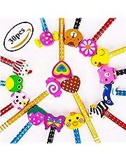 KimKo Lápices Infantiles con Borrador de Dibujos, Lápices para Niños Regalos para Fiestas Cumpleaños Premios Escolares