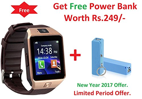 Roboster Xiaomi Redmi Note 3 Compatible Bluetooth Smart Watch Wrist Watch Phone with Camera & SIM Card Support Hot Fashion New Arrival Best Selling Premium Quality Lowest Price with Apps like Facebook, Whatsapp, QQ, WeChat, Twitter, Time Schedule, Read Message or News, Sports, Health, Pedometer, Sedentary Remind & Sleep Monitoring, Better Display, Loud Speaker, Microphone, Touch Screen, Multi-Language, Compatible with Android iOS Mobile Tablet + FREE Power Bank – Assorted Color