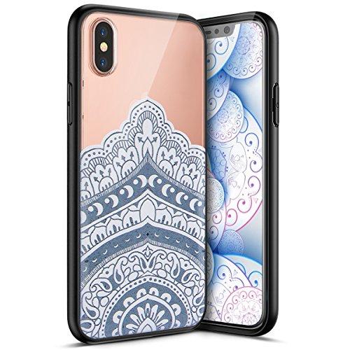Carcasa para Apple iPhone X, Funda para Apple iPhone X,Surakey Suave Carcasa Caso Parachoques Diseño pintado Patrón (Pluma /Panda/Gato/Mandala/Flor de encaje/Bosque/Alpaca)para Apple iPhone X,iPhone X Mandala