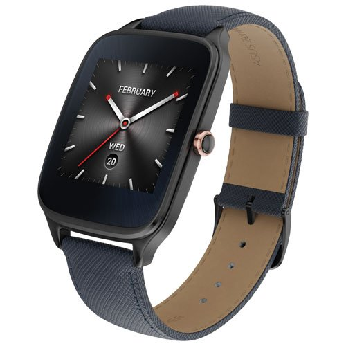 asus-zenwatch-2-smartwatch-163-stainless-steel-gunmetal-dark-blue-leather-band-certified-refurbished