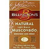 Billington's Natural Light Brown Muscovado Sugar, 1 LB (Pack of 10)