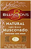 Billington's Natural Light Brown Muscovado Sugar, 16-Ounce Bags (Pack of 10)