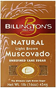 Billington's Natural Light Brown Muscovado, 16 oz. (Pack of 10)