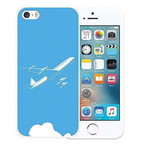 WoowCase Hülle Case für { iPhone SE iPhone 5 5S } Handy Cover Schutzhülle Stewardess