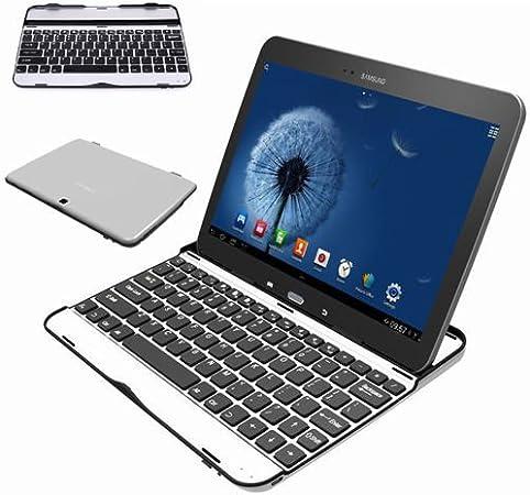 Kool™ Samsung Galaxy Tab 3 25,65 cm P5200 P5210 aluminio carcasa con soporte Bluetooth integrado 3,0 teclado negro negro 10 pulgadas