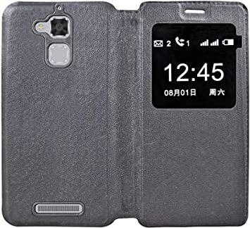 COVERNEW Flip Cover for Samsung Asus Zenfone 3 Max ZC520TL  5.2 Inches    Black Mobile Accessories