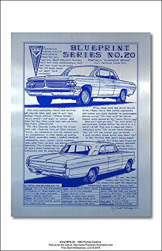 Pontiac 421 Super Duty (Metal Blueprint Series No 20 1962 Pontiac Catalina Art Print)
