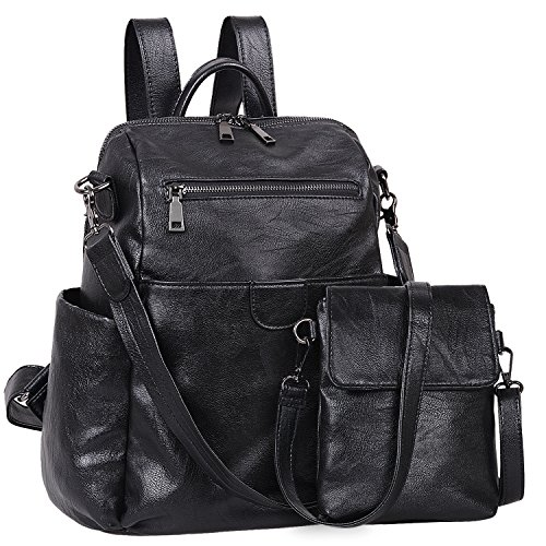 Leather Backpack Handbags - 6