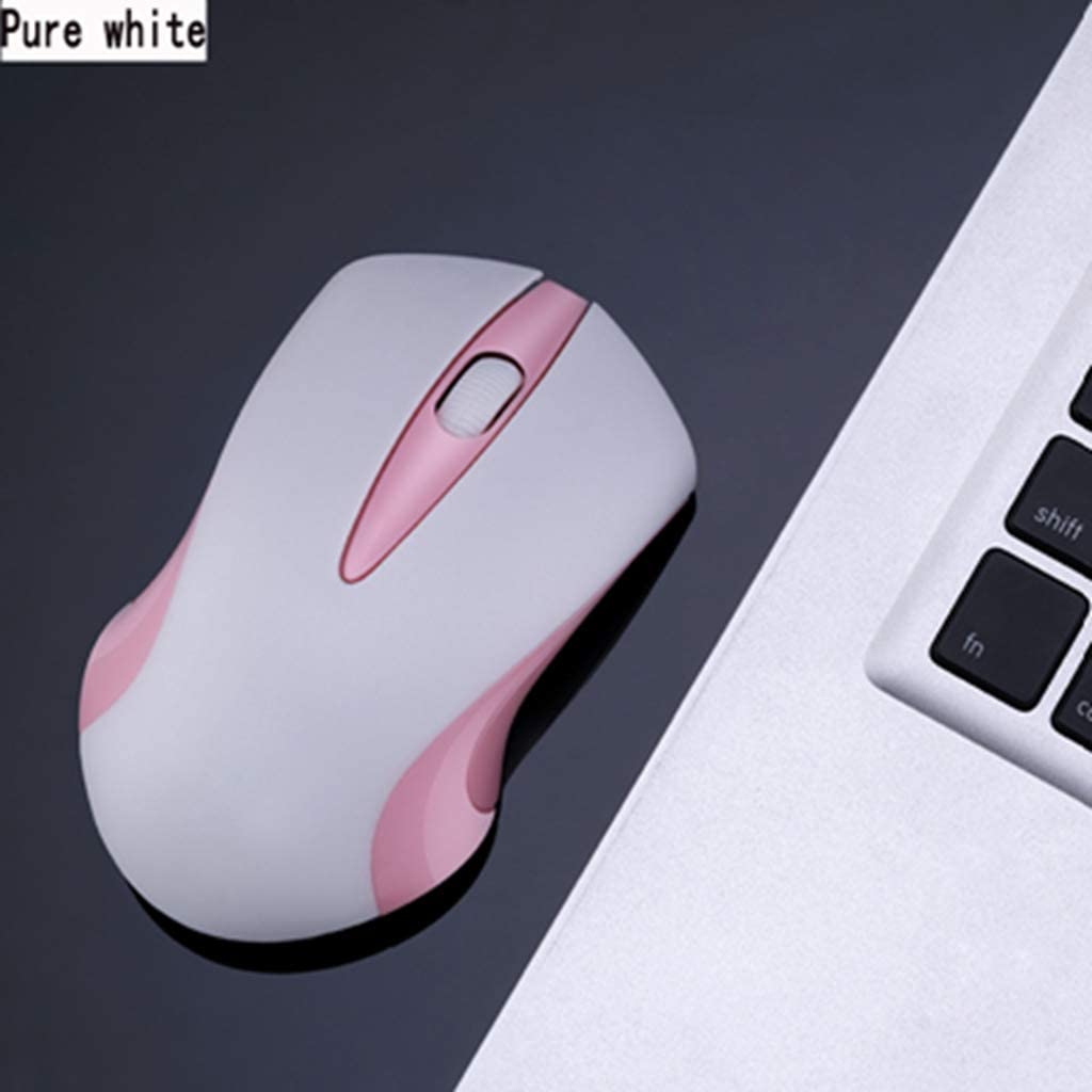 BINGFEI 2.4G Wireless Office Mouse 3 Color Optional Matte Anti-Slip Material Design Easy to face Daily Office 9 Months Long Standby,Pink