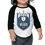JXMD Kids Boy's & Girl's Seattle And Reign Tees Black Size 5-6 Toddler