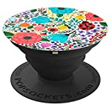 Botanical Floral Garden Pop Socket with Ladybug - PopSockets Grip and Stand for Phones and Tablets