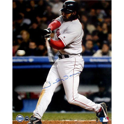 MLB Johnny Damon ALCS Game 7 2nd HR Autographed 8-by-10-Inch Photograph by Steiner Sports