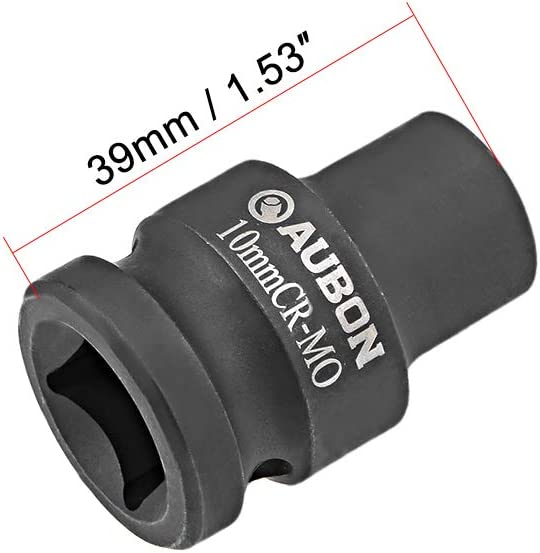 6-Point uxcell 2 Pcs 1//2-Inch Drive by 18mm Shallow Impact Socket Cr-Mo Alloy Steel Metric