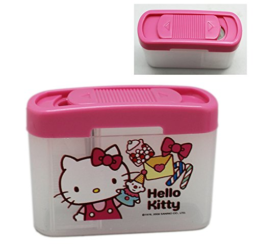 Hello Kitty Slide Open Pencil Sharpener w/Shavings Collector - Slide Hello Kitty