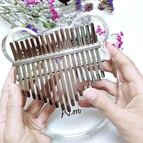 Kimi Crystal Thumb Piano Kalimba Transparent Crystal Bear Model 17 key Beginner Finger Piano