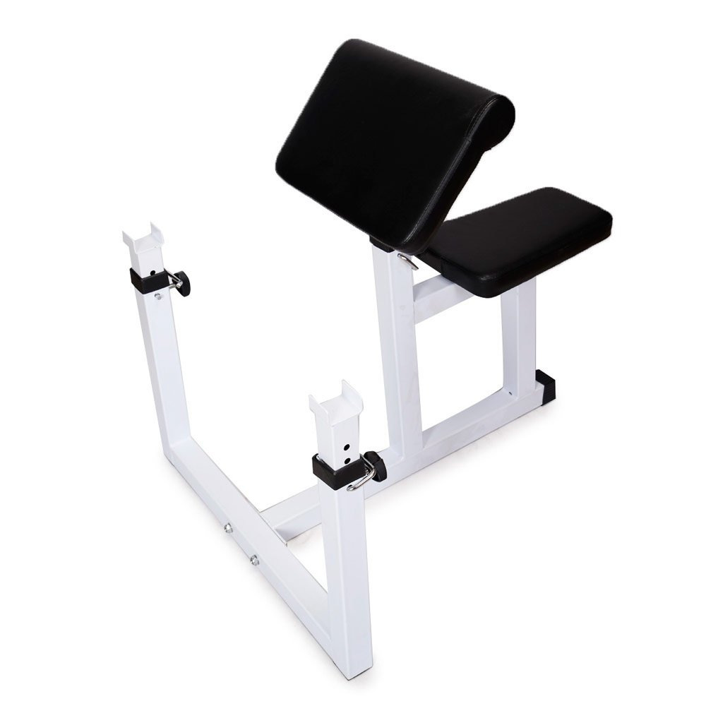 Lovinland Fitness Preacher Curl Bench Weight Bench Seated Isolated Dumbbell Biceps Training Station