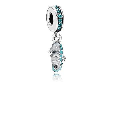 9e25d5f98 Amazon.com: Pandora Women's Tropical Seahorse Pendant Charm - 791311MCZ:  Jewelry