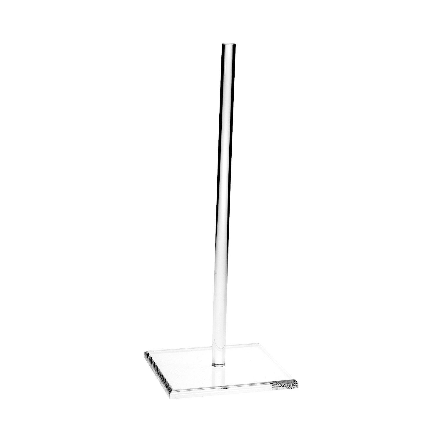 Source One Premium Clear Acrylic Wedding Donut Stand Sleek Party Display Centerpiece (6 Pack, 15 Inch Tall) by SOURCEONE.ORG (Image #2)