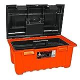 "Truper CHA-22N, Caja para herramienta, modelo ancho para mayor capacidad, naranja, 22"""