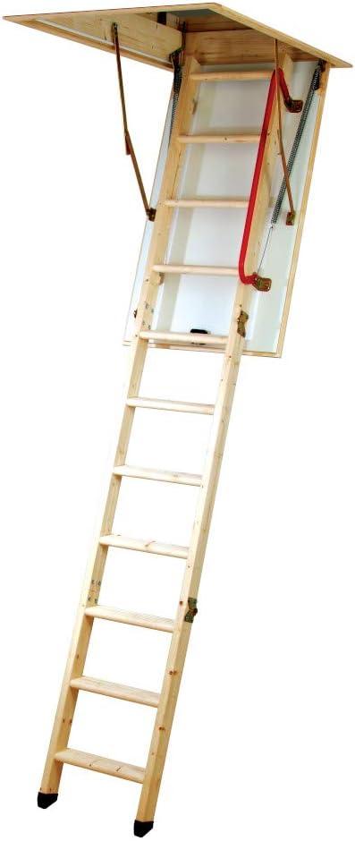 Youngman 345350 - Eco Line S-3 Sección De La Madera Plegable Loft Escalera: Amazon.es: Bricolaje y herramientas