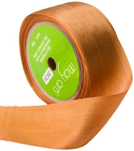May Arts 1-1/2-Inch Wide Ribbon, Rust Silk Ribbon ()